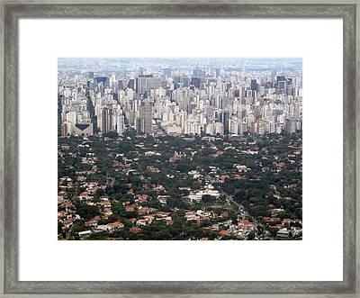 Imagens Aéreas: São Paulo Framed Print