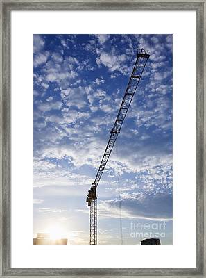 Industrial Crane Framed Print by Jeremy Woodhouse