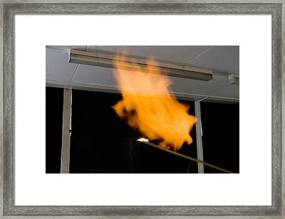 Investigating Combustion Of Hydrogen Framed Print by Trevor Clifford Photography