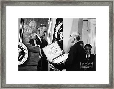 J. Robert Oppenheimer Framed Print by Granger