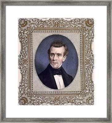 James Polk, 11th American President Framed Print