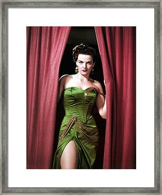 Jane Russell, Portrait Framed Print by Everett