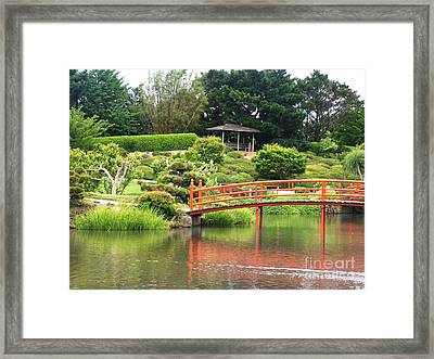 Japanese Gardens Framed Print by Therese Alcorn