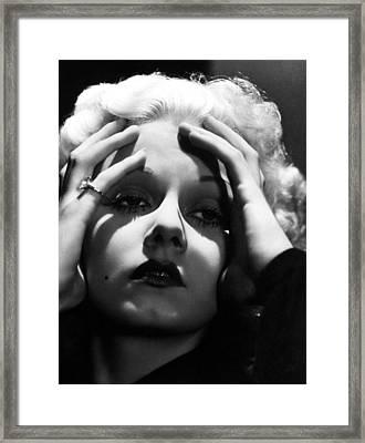 Jean Harlow Framed Print by Everett