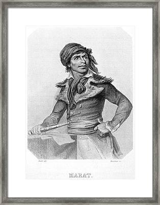 Jean-paul Marat (1743-1793) Framed Print by Granger