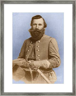 Jeb Stuart, Confederate General Framed Print by Photo Researchers