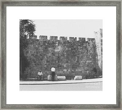 Jerusalem City Wall, Historic Site Framed Print by Photo Researchers