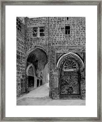 Jerusalem Old Street Framed Print