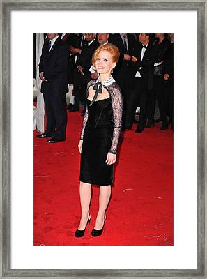 Jessica Chastain At Arrivals Framed Print by Everett