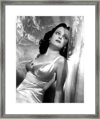 Joan Bennett, Portrait Framed Print