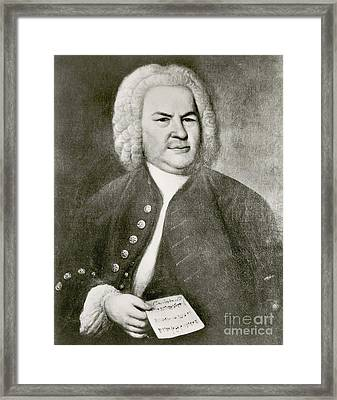 Johann Sebastian Bach, German Baroque Framed Print by Photo Researchers