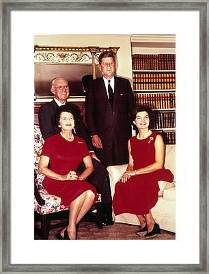 John F. Kennedy, Jacqueline Kennedy Framed Print by Everett