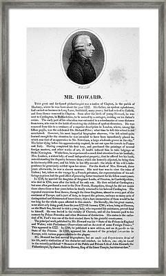 John Howard (1726?-1790) Framed Print