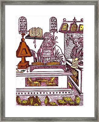 John Peckham, Anglican Theologian Framed Print by Science Source