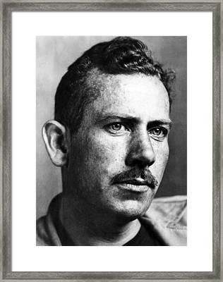 John Steinbeck 1902-1968, American Framed Print by Everett