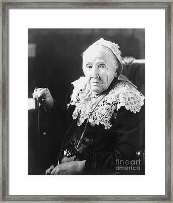 Julia Ward Howe (1819-1910) Framed Print