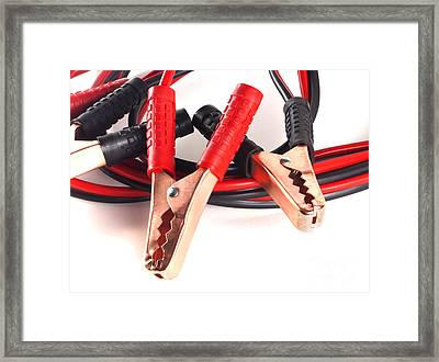 Jumper Cables Framed Print by Blink Images