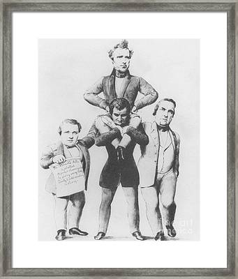 Kansas-nebraska Bill Framed Print by Photo Researchers