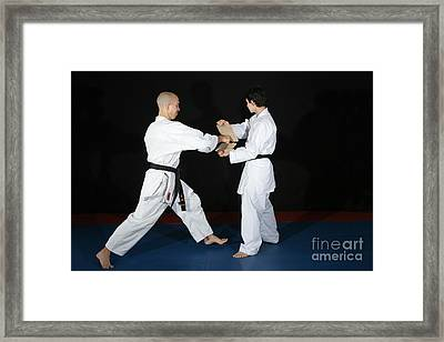 Karate Framed Print by Ted Kinsman