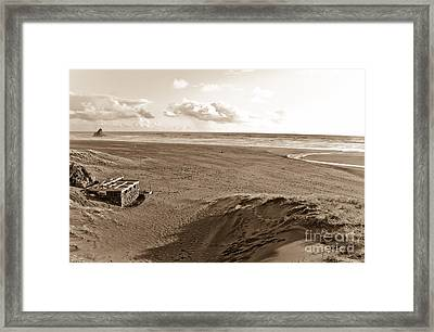 Karekare Beach In New Zealand Framed Print