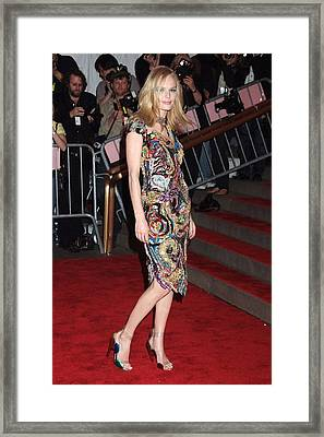 Kate Bosworth Wearing A Vintage Chanel Framed Print by Everett