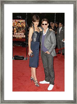 Katie Holmes Wearing A Holmes Yang Framed Print