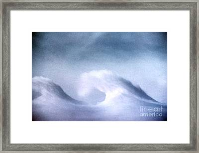 Kelvin-helmholtz Wave Clouds Framed Print by Science Source