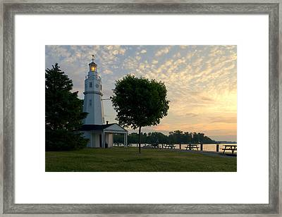 Kimberly Point Lighthouse Framed Print