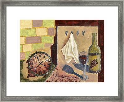 Kitchen Collage Framed Print by Susan Schmitz