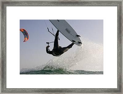 Kitesurfing Board Framed Print