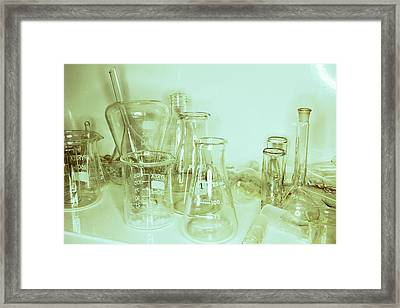Laboratory Glassware Framed Print by Colin Cuthbert