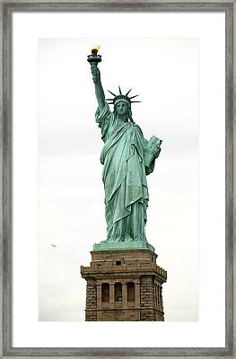 Lady Liberty Framed Print by Raymond Earley