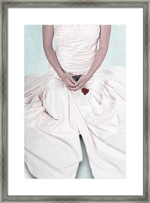 Lady With A Rose Framed Print by Joana Kruse
