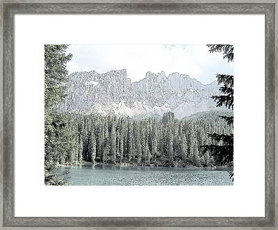 Lake Carezza Dolomites Italy  Framed Print by Joseph Hendrix