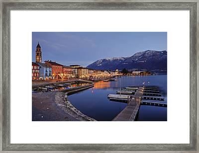 Lake Maggiore - Ascona Framed Print by Joana Kruse