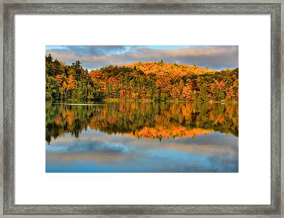Lake Reflections Framed Print by Andre Faubert