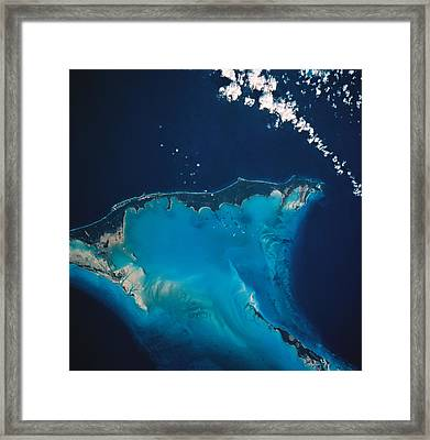 Landscape Of Earth Viewed From Space Framed Print