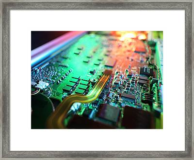 Laptop Circuit Board Framed Print