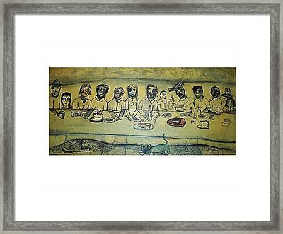 Last Brunch By The Sea Framed Print by Ward Smith