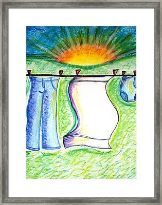 Laundry Day Framed Print by Susan George
