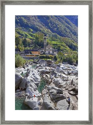 Lavertezzo - Ticino Framed Print by Joana Kruse