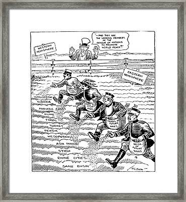 League Of Nations Cartoon Framed Print by Granger