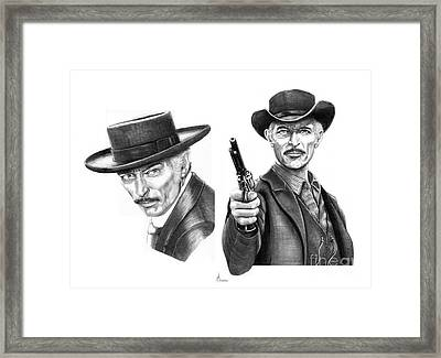 Lee Van Cleef Framed Print by Murphy Elliott