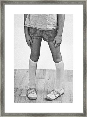 Legs Of A Girl Framed Print by Joana Kruse