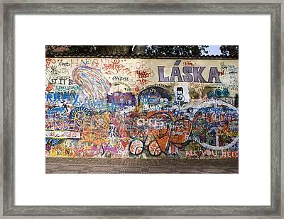 Lennon Wall, Prague Framed Print by Mark Williamson