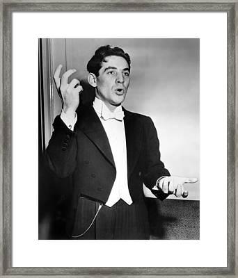 Leonard Bernstein 1918-1990 American Framed Print by Everett