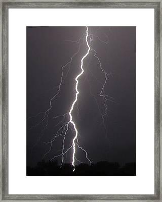 Lightning  Framed Print by Vonda Barnett