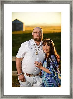 Lisa And James Framed Print