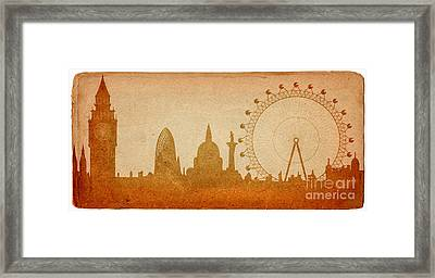 London Skyline Framed Print by Michal Boubin