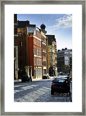 London Street Framed Print by Elena Elisseeva